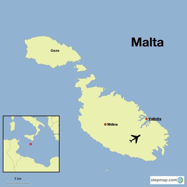 Malta Tour map