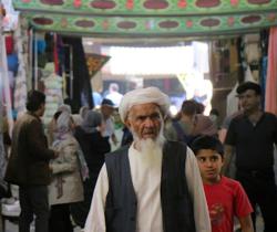 Afghan man in the bazaar in Shiraz